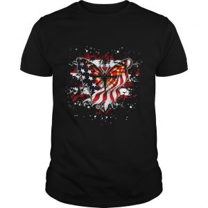 Butterfly American flag shirt