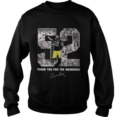 Sweater Buy Clay Matthews 52 Thank You For The Memories shirt