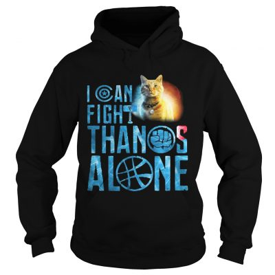 Hoodie Cat Goose I can fight Thanos alone shirt