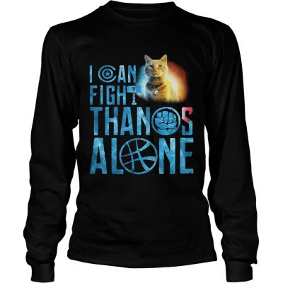 Longsleeve Tee Cat Goose I can fight Thanos alone shirt