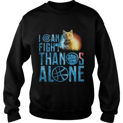 Sweater Cat Goose I can fight Thanos alone shirt