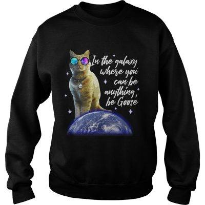 Sweater Cat In the galaxy where you can be anything be Goose shirt