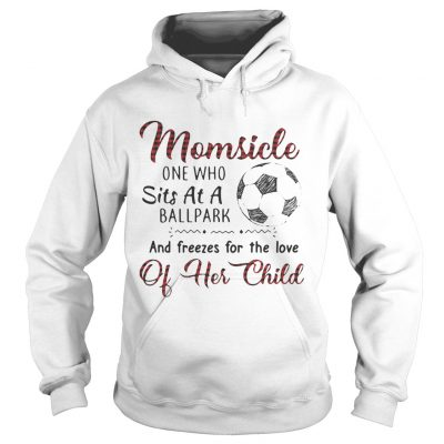 Hoodie Momsicle one who sits at a ballpark and freezes for the love of her child shirt