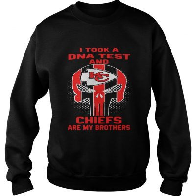 Sweater Skull I took a DNA test and Kansas City Chiefs are my brothers shirt