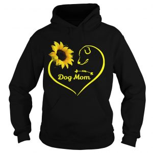 Heart shaped sunflower and dog mom hoodie