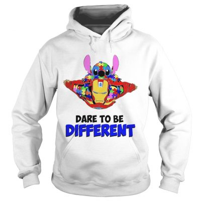 Stitch and iron dare to be different autism Hoodie