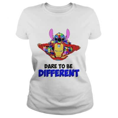 Stitch and iron dare to be different autism Ladies tee