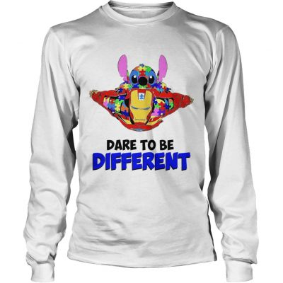 Stitch and iron dare to be different autism Longsleeve Tee
