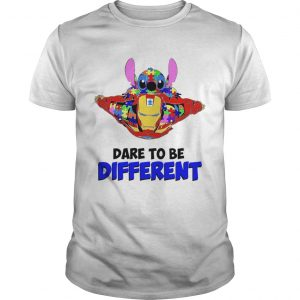 Stitch and iron dare to be different autism shirt
