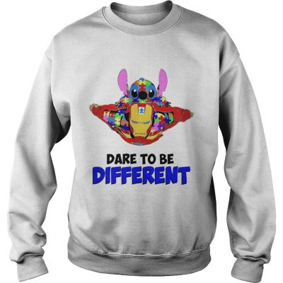 Stitch and iron dare to be different autism Sweater