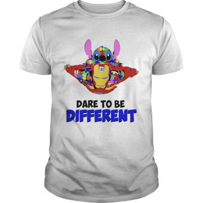 Stitch and iron dare to be different autism Unisex Shirt