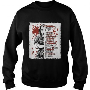Arya Stark kills list sweatshirt