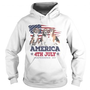 Cool Beagle America 4th July Independence Day hoodie