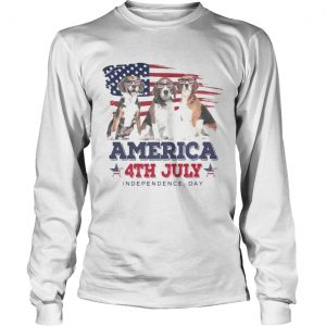 Cool Beagle America 4th July Independence Day longsleeve tee