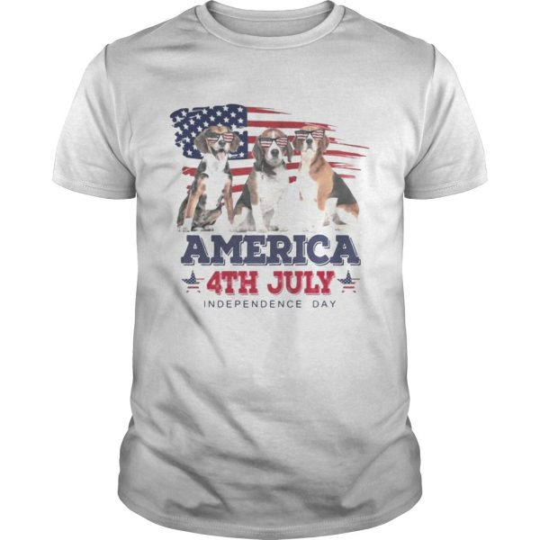 Cool Beagle America 4th July Independence Day Tshirt