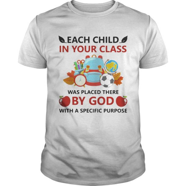 Each child in your class was placed there by God with a specific purpose shirt
