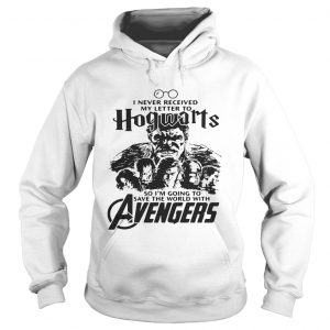 I never received my letter to Hogwarts so Im going to save the world with Avengers hoodie
