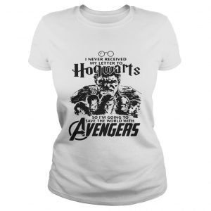 I never received my letter to Hogwarts so Im going to save the world with Avengers ladies tee