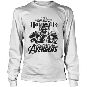 I never received my letter to Hogwarts so Im going to save the world with Avengers longsleeve tee