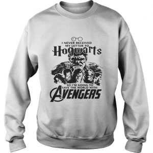 I never received my letter to Hogwarts so Im going to save the world with Avengers sweatshirt