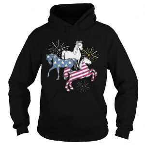 American Flag Horse For Independence Day Funny hoodie