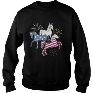 American Flag Horse For Independence Day Funny sweatshirt