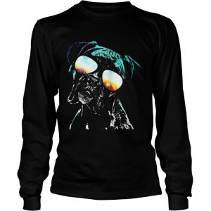 Boxer wearing glasses neon dog longsleeve tee