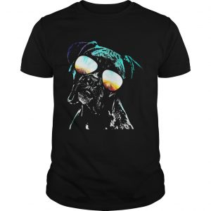 Boxer wearing glasses neon dog unisex