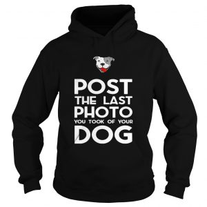 Pitbull postthe last photo you took of your dog hoodie