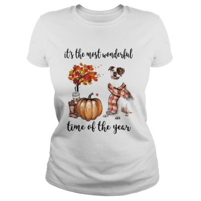 American Pit Bull Terrier its the most wonderful time of the year Ladies Tee