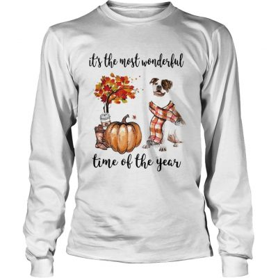 American Pit Bull Terrier its the most wonderful time of the year Longsleeve