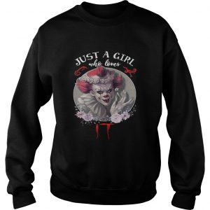 Just a girl who love it Pennywise floral Sweatshirt