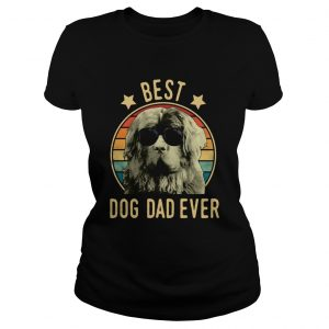 Best Dog Dad Ever Newfoundland Dog Vintage Ladies Tee