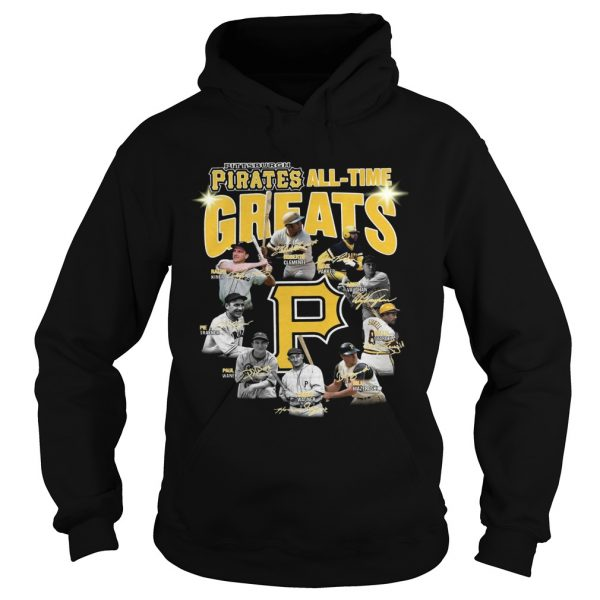 Pittsburgh Pirates all time great players signatures Hoodie