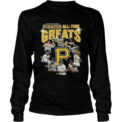 Pittsburgh Pirates all time great players signatures Longsleeve