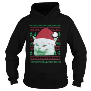 Cat being yelled at Christmas Hoodie