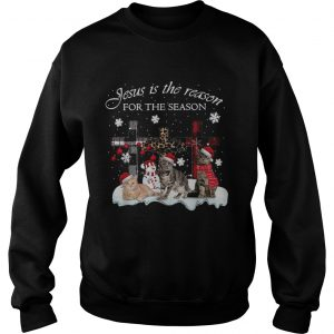 Cats Jesus is the reason for the season Christmas unisex