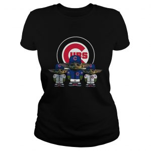 Chicago Cubs Baby Yoda Ladies Tee