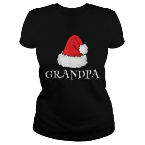 Christmas Grandpa Family Matching Pajama Santa Hat Ladies tee