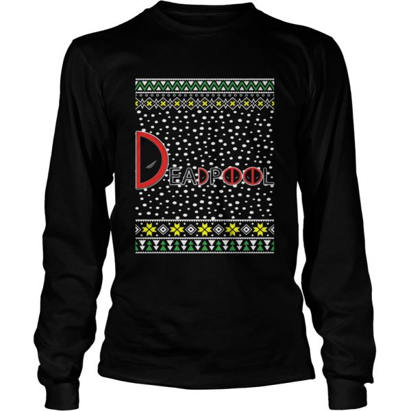 Deadpool Logo Ugly Christmas Longsleeve