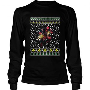 Deadpool Shooting Ugly Christmas Longsleeve
