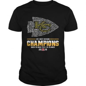 Kansas City Chiefs Players AFC West Divison Champions Back To Back unisex