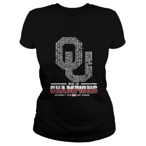 Oklahoma Sooners football Players Big 12 Champions ATT Stadium Ladies tee