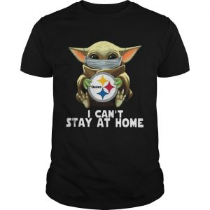 Star Wars Baby Yoda Mask Hug Pittsburgh Steelers I Cant Stay At Home shirt