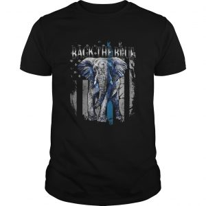 Elephant back the blue american flag independence day shirt