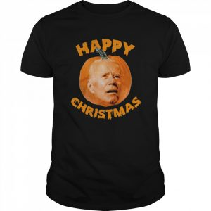 Biden Pumpkin Happy Christmas Halloween shirt