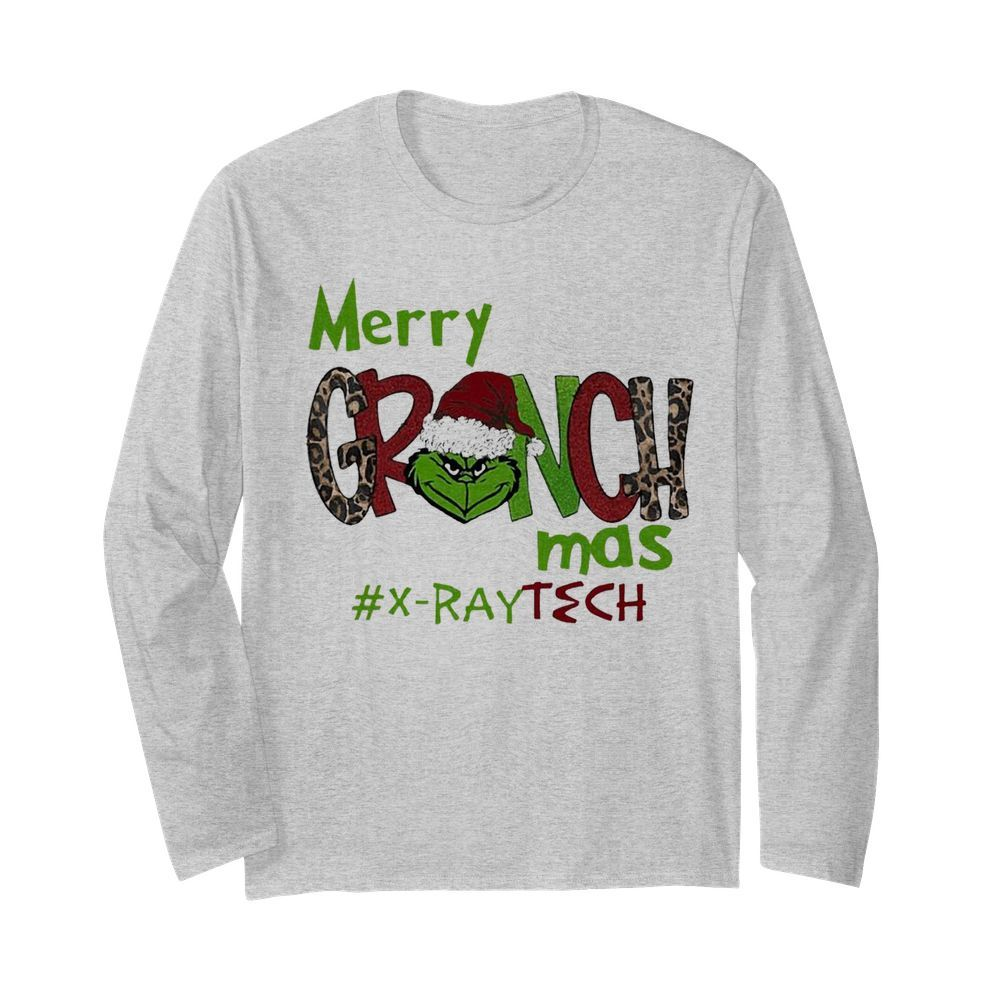 Merry Grinchmas X-Ray Tech Christmas  Long Sleeved T-shirt